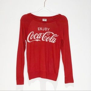 Enjoy Coca Cola Long Sleeve Red Sweater. Size M.